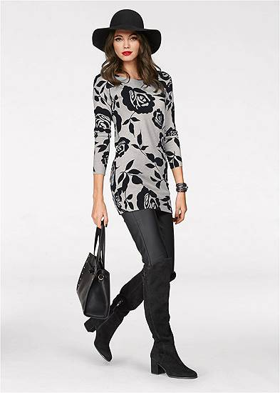 floral tunic sweater