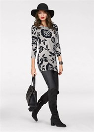 Alternate View Floral Tunic Sweater