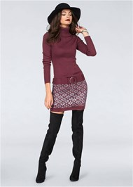 Alternate View Belted Sweater Dress