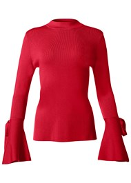 Front View Trumpet Sleeve Sweater