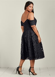 Back View Lace Midi Dress