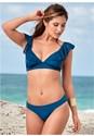 Front View Crochet Ruffle Bikini Top