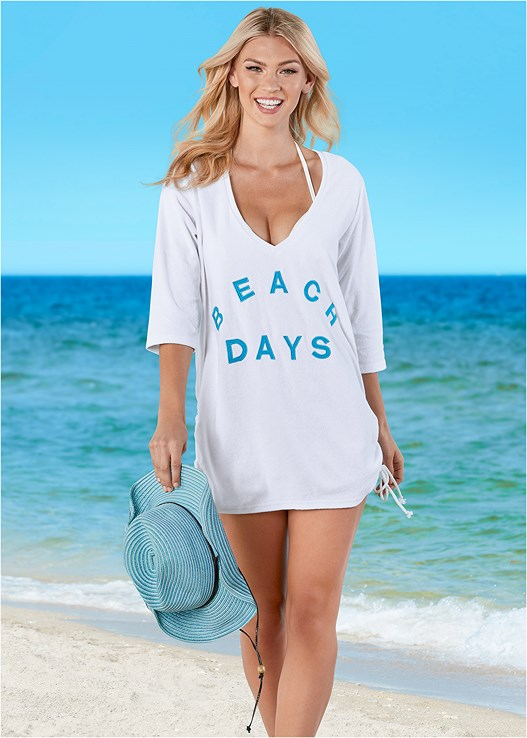 DEEP V BEACH COVER-UP,CRUSHABLE COWBOY HAT