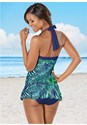 Back View Skirted Halter One-Piece