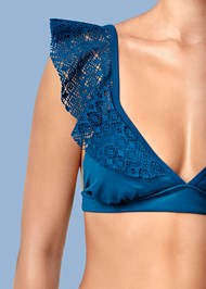 Alternate View Crochet Ruffle Bikini Top