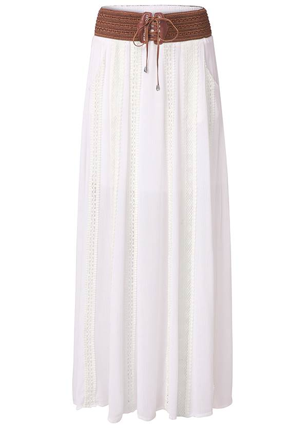 Alternate View Lace Detail Maxi Skirt