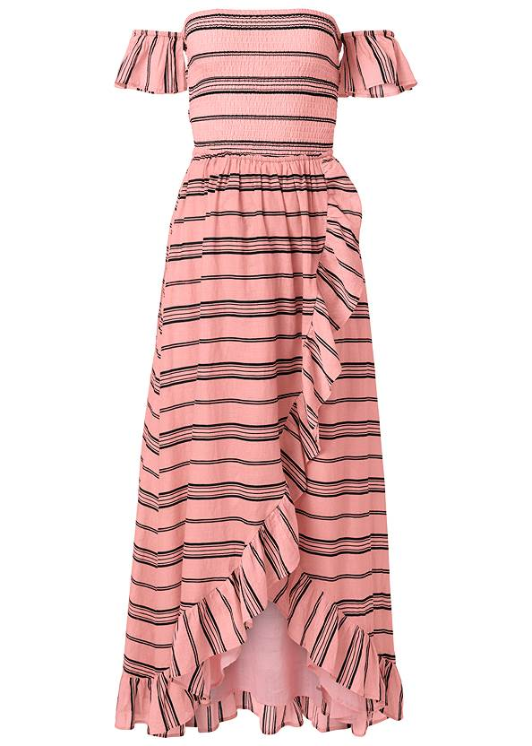 Alternate View Smocked Ruffle Detail Dress