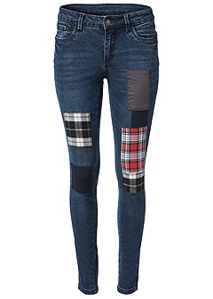 plus size patchwork jeans