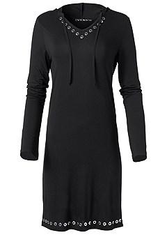plus size grommet detail dress