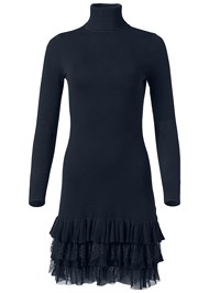 Alternate View Ruffle Hem Sweater Dress