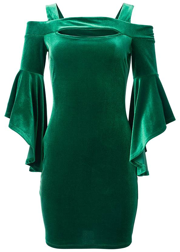 Alternate View Velvet Sleeve Detail Dress
