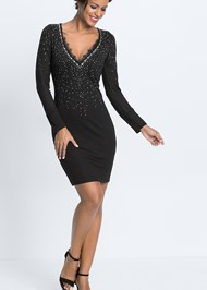 Alternate View Embellished Party Dress