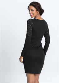Back View Embellished Party Dress