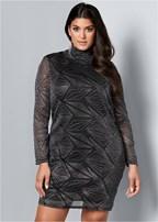 plus size glitter detail dress