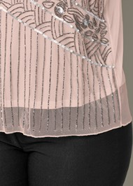 Alternate View Embellished Mesh Top