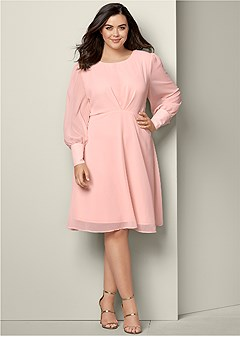 plus size cuff detail dress