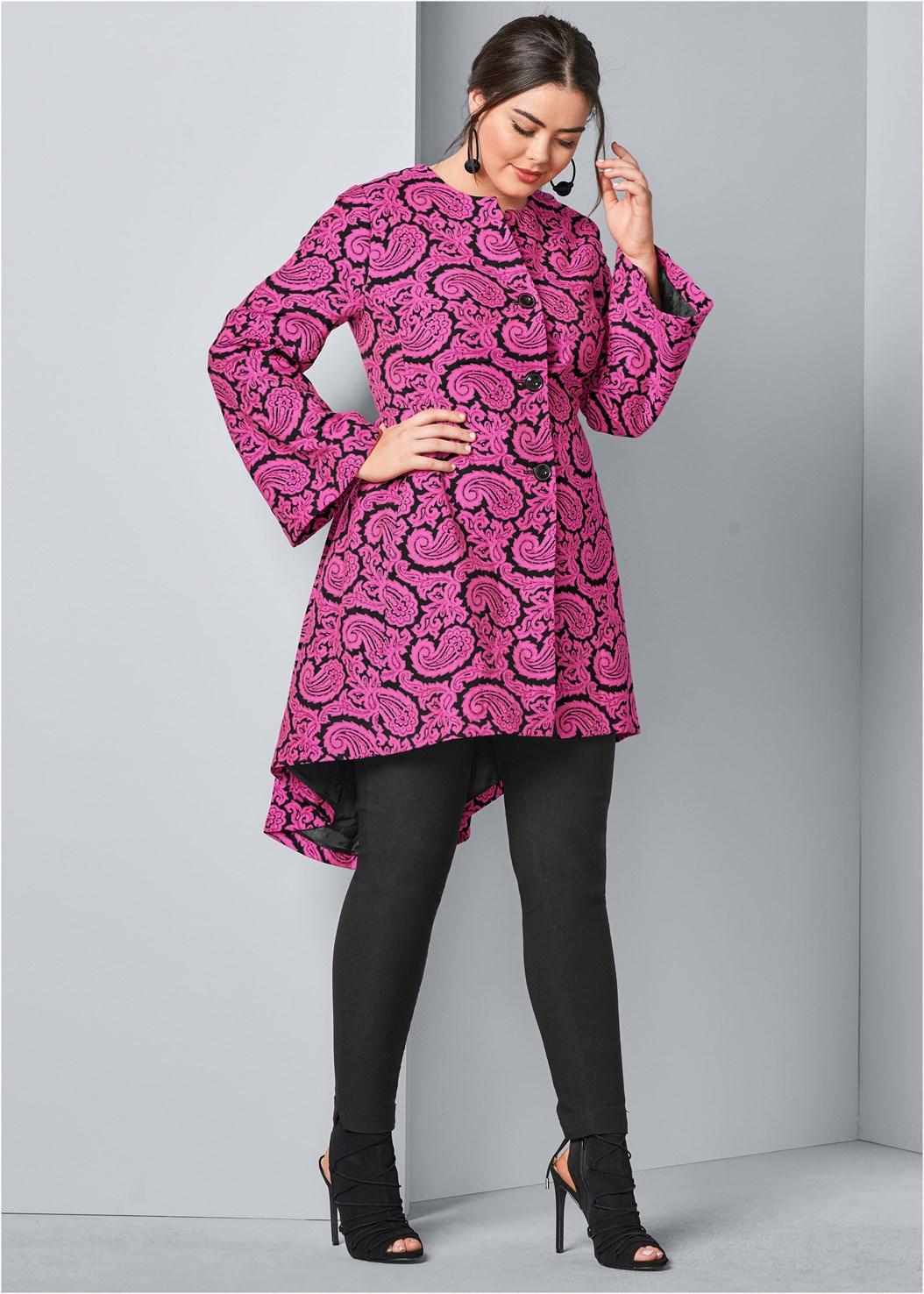 Paisley Print Coat