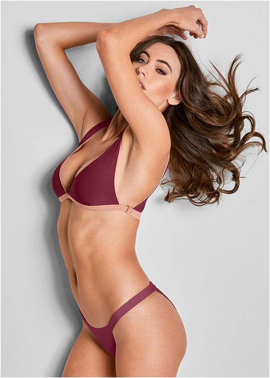VERSATILITY BY VENUS ™ BANDED BRAZILIAN BOTTOM,VERSATILITY BY VENUS ® REVERSIBLE BIKINI BRALETTE,VERSATILITY BY VENUS ™ FIXED TRIANGLE BIKINI TOP,VERSATILITY BY VENUS ™ TWO IN ONE BIKINI TOP,VERSATILITY BY VENUS™  REVERSIBLE BANDEAU TOP