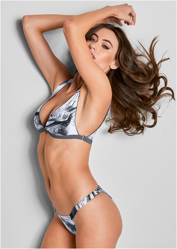 Versatility By Venus ® Reversible Bikini Bralette,Ruched Waist Bikini Bottom,Braided String Side Bottom,Adjustable Side Swim Bottom,Sheer Cover-Up Dress