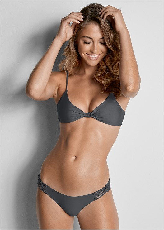 VERSATILITY BY VENUS ® REVERSIBLE KNOTTED TOP,VERSATILITY BY VENUS™  REVERSIBLE CHEEKY BOTTOM