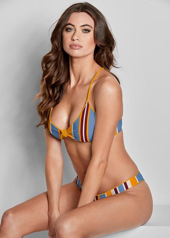 Versatility By Venus ® Reversible Knotted Top,Ruched Waist Bikini Bottom