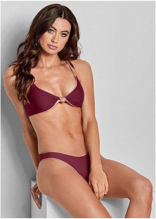 VERSATILITY BY VENUS ® REVERSIBLE KNOTTED TOP,VERSATILITY BY VENUS ™ REVERSIBLE HIGH LEG BOTTOM