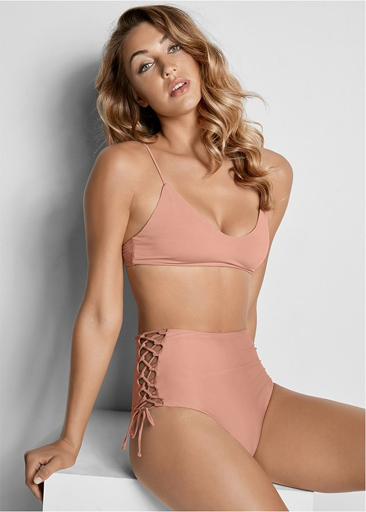 REVERSIBLE HIGH CUT BOTTOM,REVERSIBLE SCOOP TOP