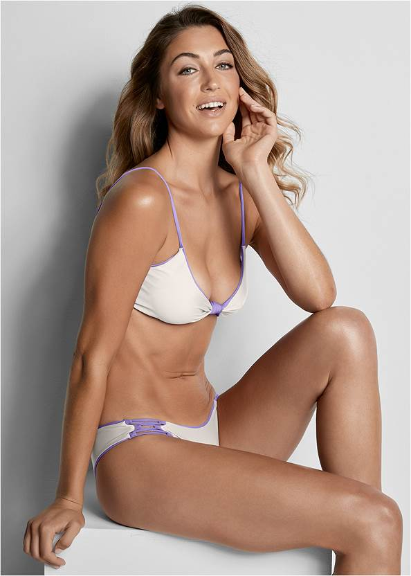 Versatility By Venus ® Reversible Knotted Top,High Waist Moderate Bottom