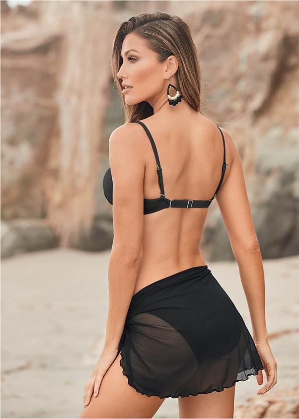 Back View Mesh Wrap Skirt