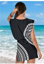 Back View Blouson Cover-Up Dress