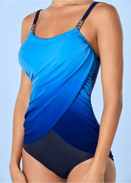 Alternate View Slimming Draped One-Piece