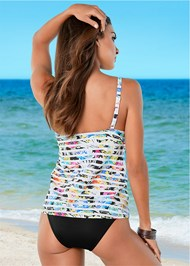 Back View Tankini Top