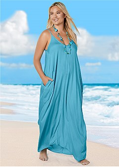 plus size boho maxi dress cover-up