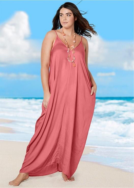Plus Size BOHO MAXI DRESS COVER-UP Cover Up | VENUS