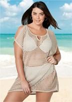 plus size cold shoulder cover-up