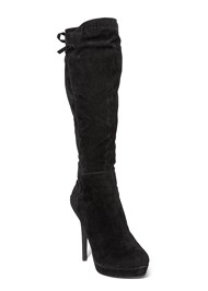 Front View Tie Back Boots