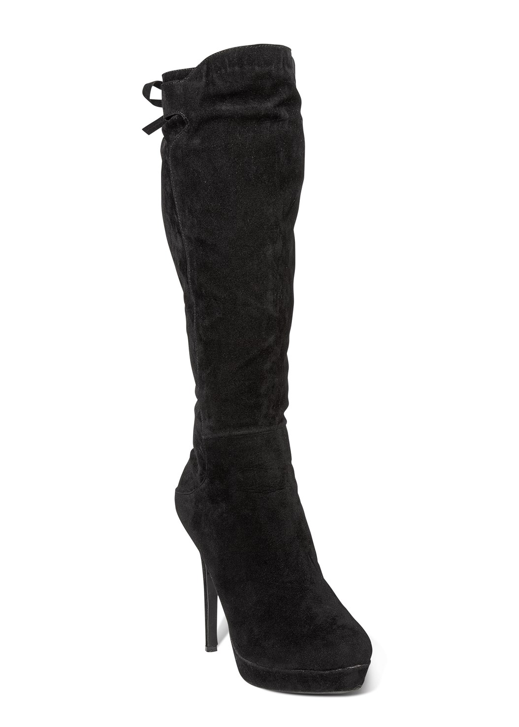 Tie Back Boots,Mock Neck High Low Top,Mid Rise Full Length Slimming Stretch Jeggings