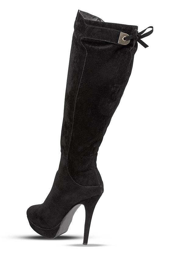 Back View Tie Back Boots