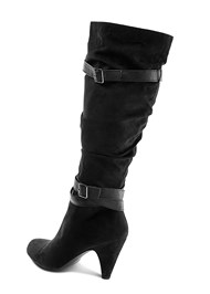Back View Slouchy Layered Strap Boots