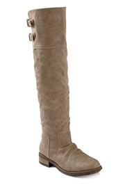 Buckle Knee High Boots