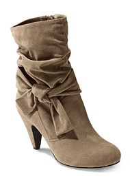 Front view Knotted Slouchy Boots