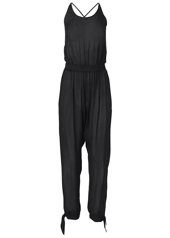 Alternate View Strappy Back Cover-Up Jumpsuit