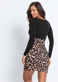 Back View Leopard Printed Dress