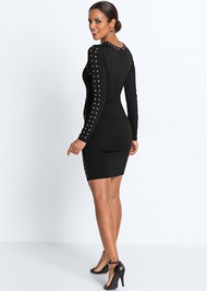 Back View Embellished Dress