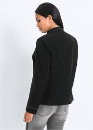 Back View Button Detail Jacket