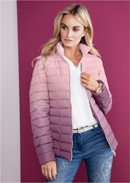Alternate View Ombre Puffer Coat