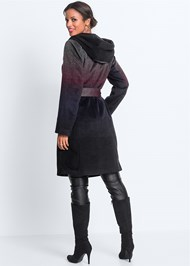 Back View Ombre Wool Coat
