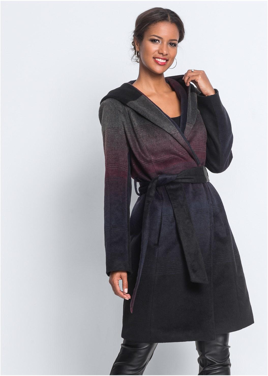 Ombre Wool Coat