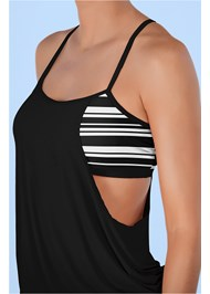 Alternate View Layered Blouson Tankini Top