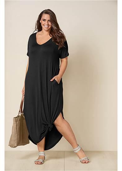 Plus Size Casual T-Shirt Maxi Dress